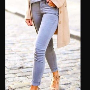 Closed Skinny Fitting Jeans in Light Silver